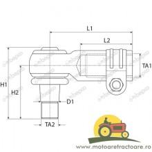 25/495-60 CAPAT DE BARA CASE IH 1968 464C1,1968464C1, 87714412, IH1968464, MC1968464C1, R1968464C1, S7807.